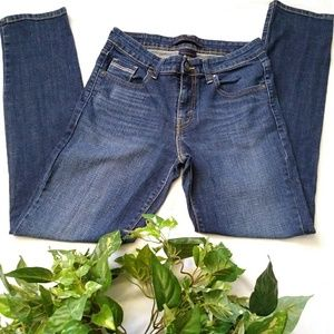Levi Strauss mid rise skinny jeans dark denim pant